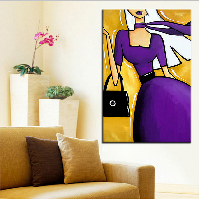 Large size Printing Oil Painting shopping spree Wall painting POP ...