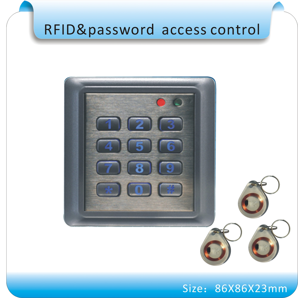 Free shipping Metal case 86x86mm RFID EM 125KHZ access control system /access controller support WG26 reader+10 crystal keyfobsFree shipping Metal case 86x86mm RFID EM 125KHZ access control system /access controller support WG26 reader+10 crystal keyfobs