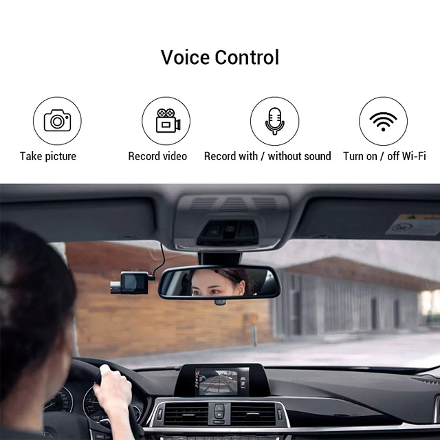 70mai Pro Dash Cam English Voice Control Smart Car DVR 1944PHD Dash Car Camera Parking Monitor 140 FOV Night Version
