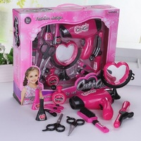 12 PCs Plastic Makeup Set Pretend Play Playhouse Haircut Toy Gift Child Early Childhood Educational toys for children lol