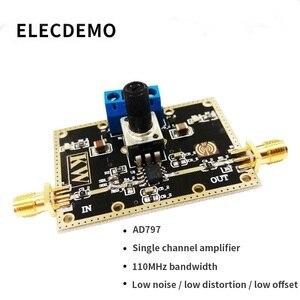 Image 2 - Único módulo universal ad797 do amplificador do único canal módulo 110 mhz largura de banda baixo ruído distorção baixa offset