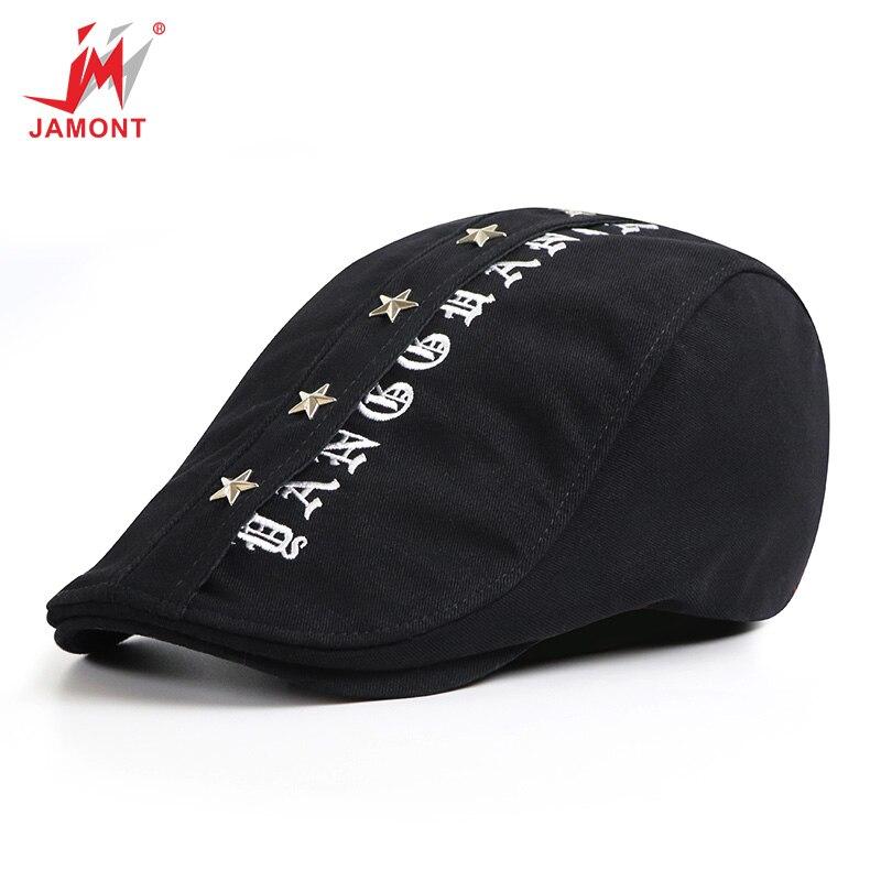 JAMONT Hats Beret-Hat Casquette-Cap Adjustable Cotton Fashion Women Casual for Visors