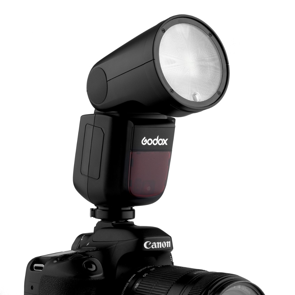 Flashpoint Zoom Li-on X R2 TTL On-Camera Round Flash Speedlight for Pentax Godox AK-R1 Godox V1 R2 Pro Mark II Transmitter for Pentax Round Head Flash Accessory Kit