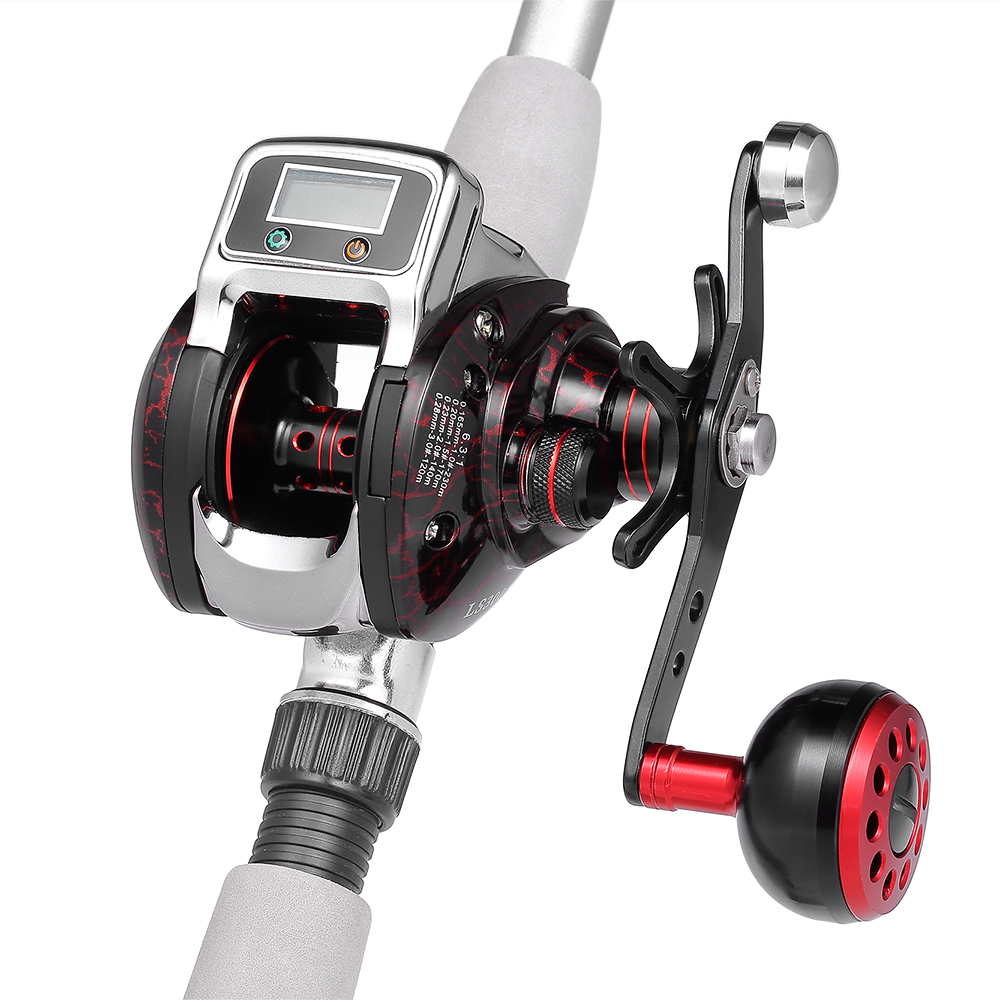 14 1 BB Ball Bearing 6 3 1 Bait Casting Fishing Reel Digital LED Display Baitcasting
