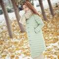 2016 nuevo viento de invierno delgada Chino, blanco por la chaqueta en la larga y delgada mujer retro style folk
