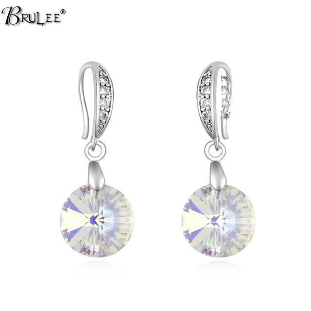 2017 New Fashion Dangling Earrings For Women Swarovski Crystal Elements Round Bridal Ohrringe