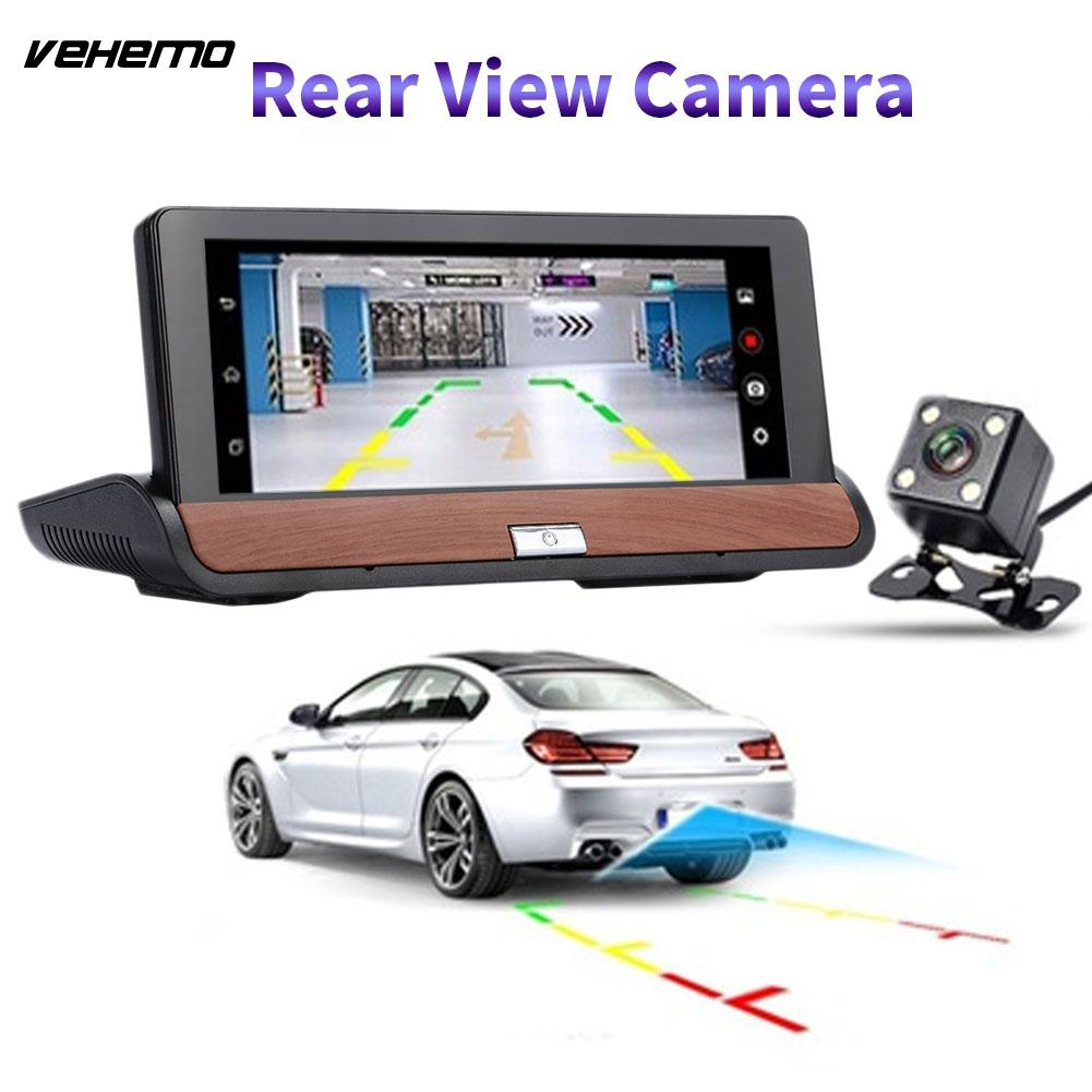VEHEMO 7 Inch GPS Navigator HD 1080P Double Camera DVR Camera Video Recorder Touch Screen DVD With North America And Europe Map 7 0 touch screen wince 6 0 mtk3351 gps navigator with fm 4gb tf card w europe map black