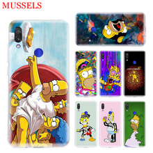 Homer J.Simpsons Phone Case for Xiaomi Redmi S2 Y3 Y2 Note 7 7S 6 5 Pro 4 4X Mi Pocophone F1 9 8 A2 Lite Patterned Cover Coque