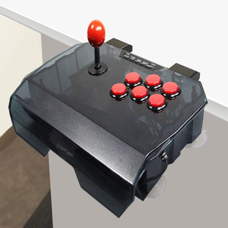 ViGRANfree gratuite 1 pcs QANBA N1 arcade joystick USB câble arcade jeu pour PS3/PC/PC360/Android smart TV KOF coque transparente