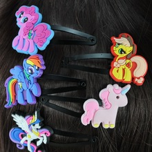 isnice Hair Clip of hairgrips ,10pcs/Lot High Quality BB Accessories unicorn School Girl 2-10 Years Ornaments