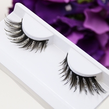 False Eyelashes Silver Flash Powder Cross Winged