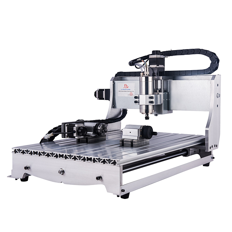 Chinacnc 1500W Milling Cutting Machine 6040 4axis Process On Aluminum Copper Jade Stone Steel Etc