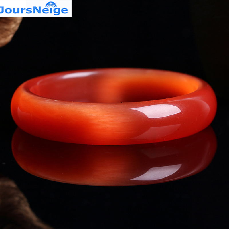Wholesale Genuine Red Natural Cat Eye Stone Crystal Bangles Lucky Women Gift Help Marriage Crystal Bracelet Jewelry JoursNeige