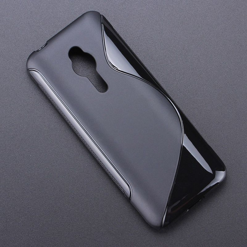 S line Anti Skidding Gel TPU Slim Soft Case Back Cover for <font><b>Nokia</b></font> <font><b>230</b></font> / <font><b>230</b></font> Dual SIM Mobile Phone Rubber silicone Bag image