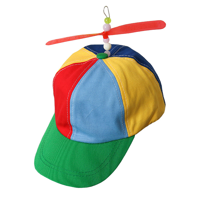 2pcs Adult Copter Helicopter Propeller Hat Ball Cap Clown Costume Accessory