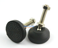 4 Pieces 60mm Swivel Base M12 50mm Adjustable Lathe Leg Articulating Leveling Feet