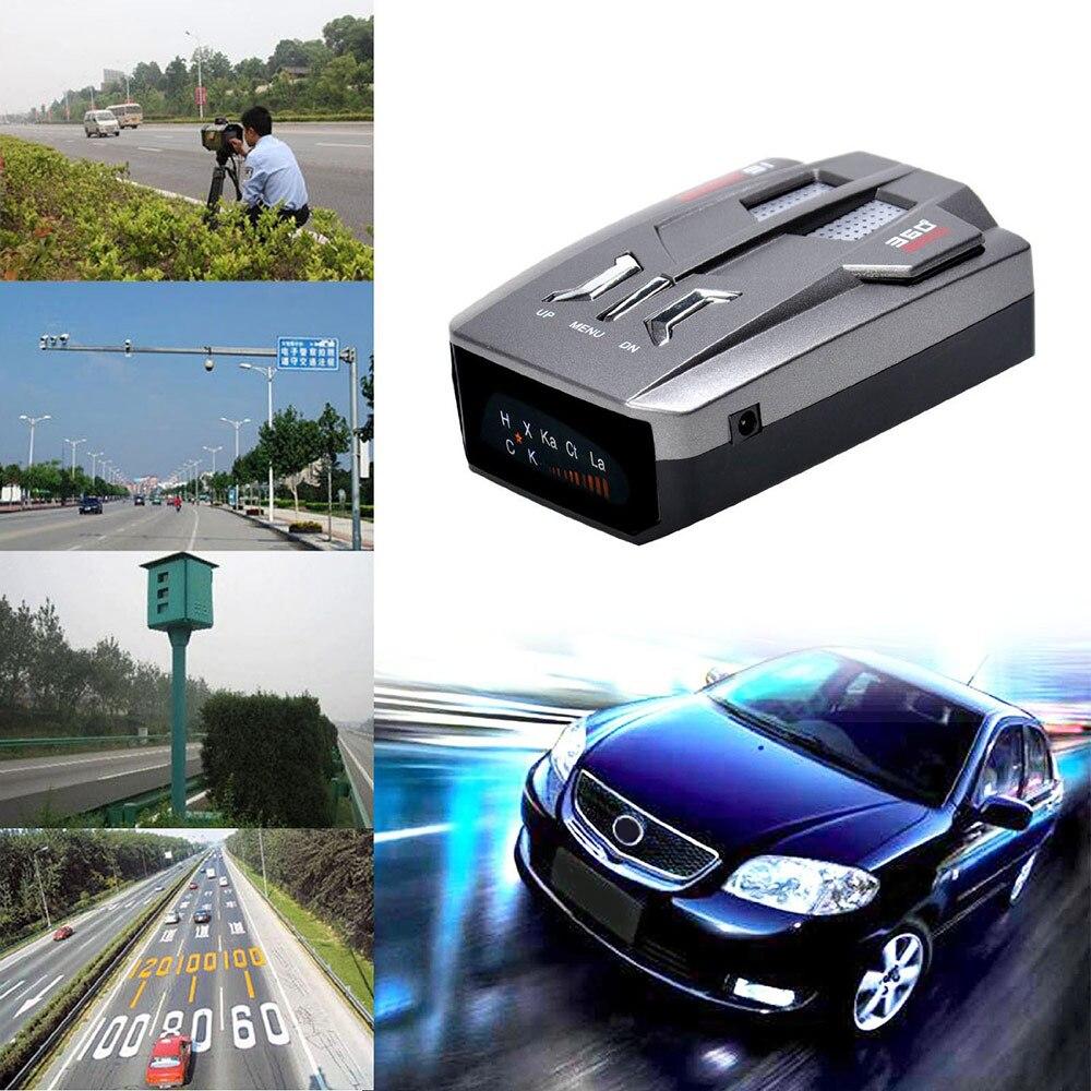 Auto coche Anti Radar Detector de señal para vehículo V9 velocidad de alerta de voz de advertencia LED pantalla de versión en inglés/ruso OkeyTech, Sensor de aparcamiento Parktronic, 4 Sensor de marcha atrás, Detector de Radar, LED Digital, asistencia para aparcamiento de coches, sistema de alarma para todos los coches