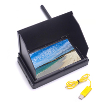 4.3 inch monitor 4.3 48CH LCD 480 x 22 Wireless Receiver Monitor built in battery with Sun Hood LCD Hood Shade For FPV Drone