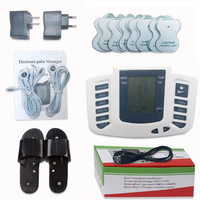 JR 309 Electrical Stimulator Full Body Relax Muscle Digital Massager Pulse Tens Acupuncture With Therapy Slipper