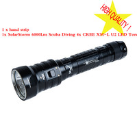 Solarstorm DX4S (upgraded from DX4) XM L U2 LED diving flashlight torch brightness waterproof 100m white light led torch