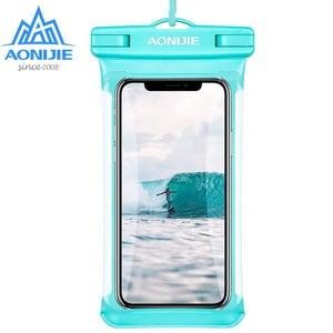 Image 1 - AONIJIE E4103 كامل الشاشة غطاء هاتف مضاد للماء حقيبة جافة غطاء الهاتف المحمول الحقيبة نهر الرحلات السباحة الشاطئ الغوص الانجراف