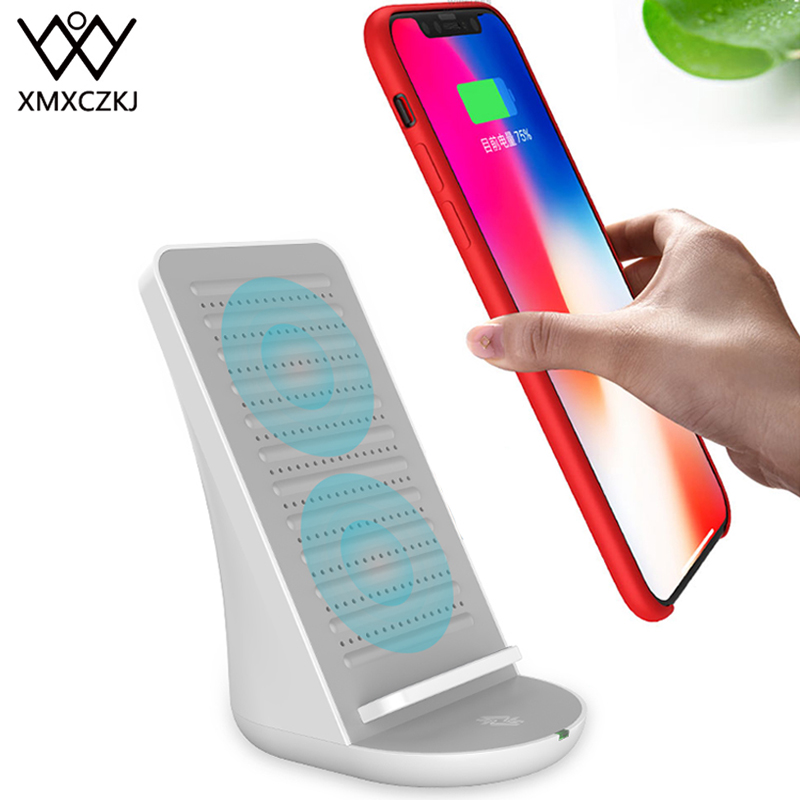 XMXCZKJ Desktop Wireless Charger Mobile Phone Holder With Speaker Stand For iPhone X Wireless Charging Speaker Phone Pad Holder|Phone Holders & Stands| |  - title=