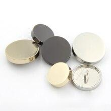 10 шт./лот зеркальный дизайн пальто Кнопка металлическая кнопка хвостовик для женщин модные аксессуары для одежды 11,5-25 мм(SS-714