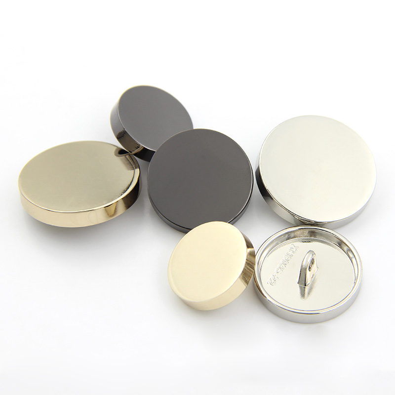 Gray Silver Color Shank Metal Buttons Domed Hammered Surface Metal Buttons 10 pcs 0.79 inch