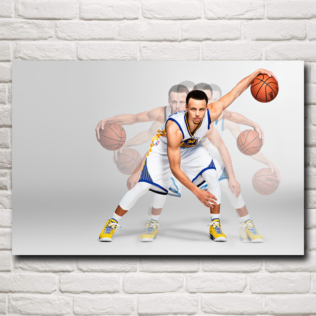 Stephen Curry Basketball Star Art Silk Fabric Poster Print Wall Home Pictures 12×18 16×24 20×30 24×36 Inches