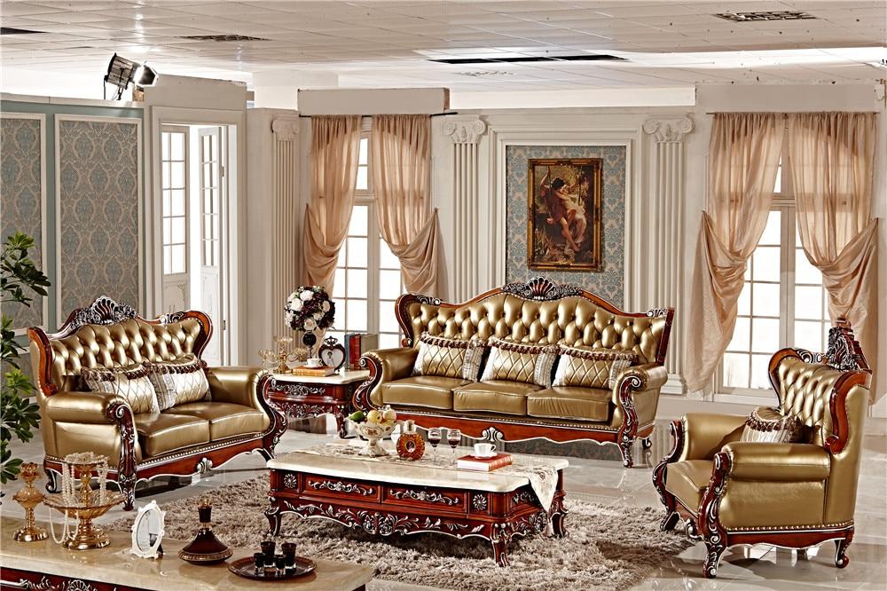 €3642.3 |Classique européen sculpté à la main meubles de salon/bois massif  sculpture meubles anciens 0409-in Ensembles salle à manger from Meubles on  ...