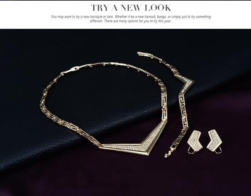 Conjunto de joyas de traje africano 18K anillo plateado Earing collar - Bisutería - foto 4