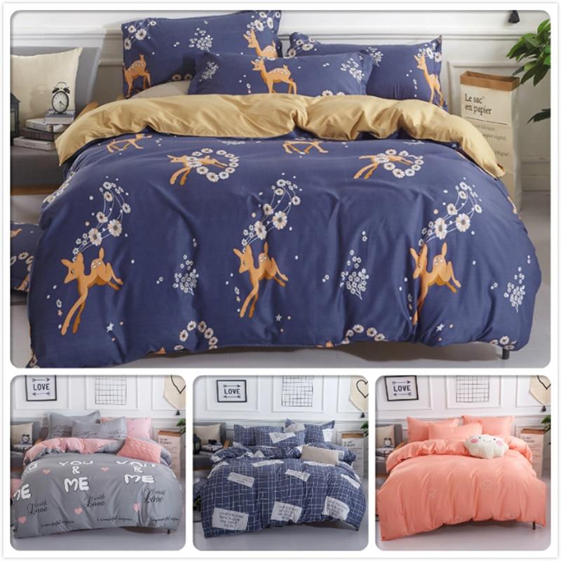 Animal Flower Floral Child Kid Bedding Set 3/4 pcs Bedclothes Full King Queen Single Size Duvet Cover 1.5m 1.8m 2m 2.2m Bedlinen