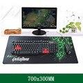 700*300*3 MM Profesional de Gran Juego Del Ratón Del Ordenador Portátil de Escritorio PC Juego Mat Mousepad Velocidad Versión con Borde de Bloqueo