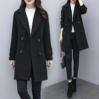 Professional woolen coat female long section overalls woolen suit jacket thickening goddess models foreign gas coat