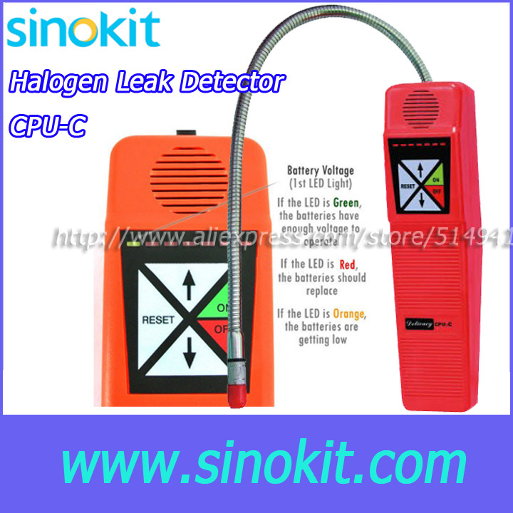 Battery Test, Battery voltage indication seven levels of sensitivity provide Halogen Leak Detector - CPU-C a c leak test device asia version 1020