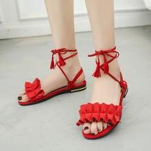 Cootelili/Модные женские сандалии гладиаторы на плоской подошве;