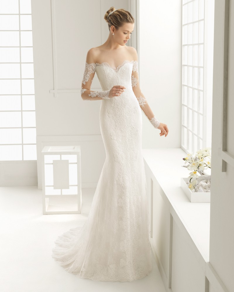2016 Sexy New Sheer Lace Long Sleeve Wedding Dresses