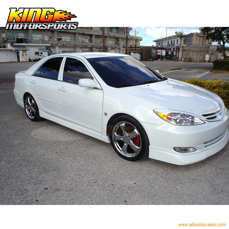 For 2002 2003 Toyota Camry Pu Vip Front Rear Bumper Lip Side Skirts