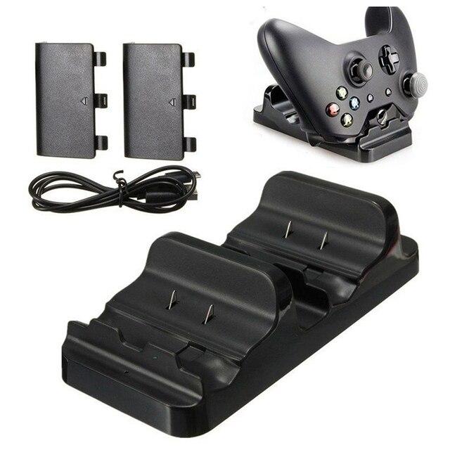 Dual Ladestation Dock Stehen + 2 Akku Für Xbox One Wireless Controller