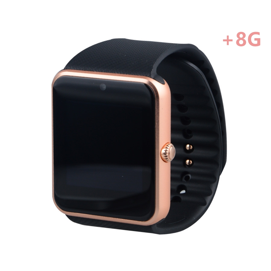 GT08 + 8G montre intelligente pour smartWatch hommes femmes Android montre-bracelet intelligente électronique Smartwatch avec caméra SIM TF carte PK Y1 DZ09