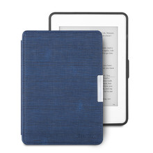 Ultra Slim PU Leather eReader Case For Amazon Kindle Paperwhite Paper White 1 2 3 Soft Shell Flip Cover eBook Cases Dark Blue new design case for amazon 2016 kindle 8th generation 6 ereader slim protective flip smart cover pu leather screen protector