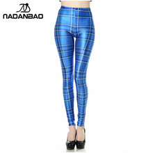 46ab60bce10 NADANBAO New Design Blue Plaid 3D Digital Legins Sexy Sublimation Leggins  Printed Women Leggings women pant