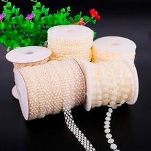Мульти-Размер ABS имитация жемчуга бусины цепь отделка для DIY Свадебная вечеринка украшения ювелирных изделий Ремесло АКСЕССУАРЫ
