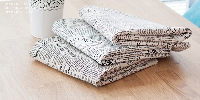 FABRIC Patchwork cloth learning Printing table Natural Cotton Linen Fabric Quilting Patchwork Sewing magzine black words
