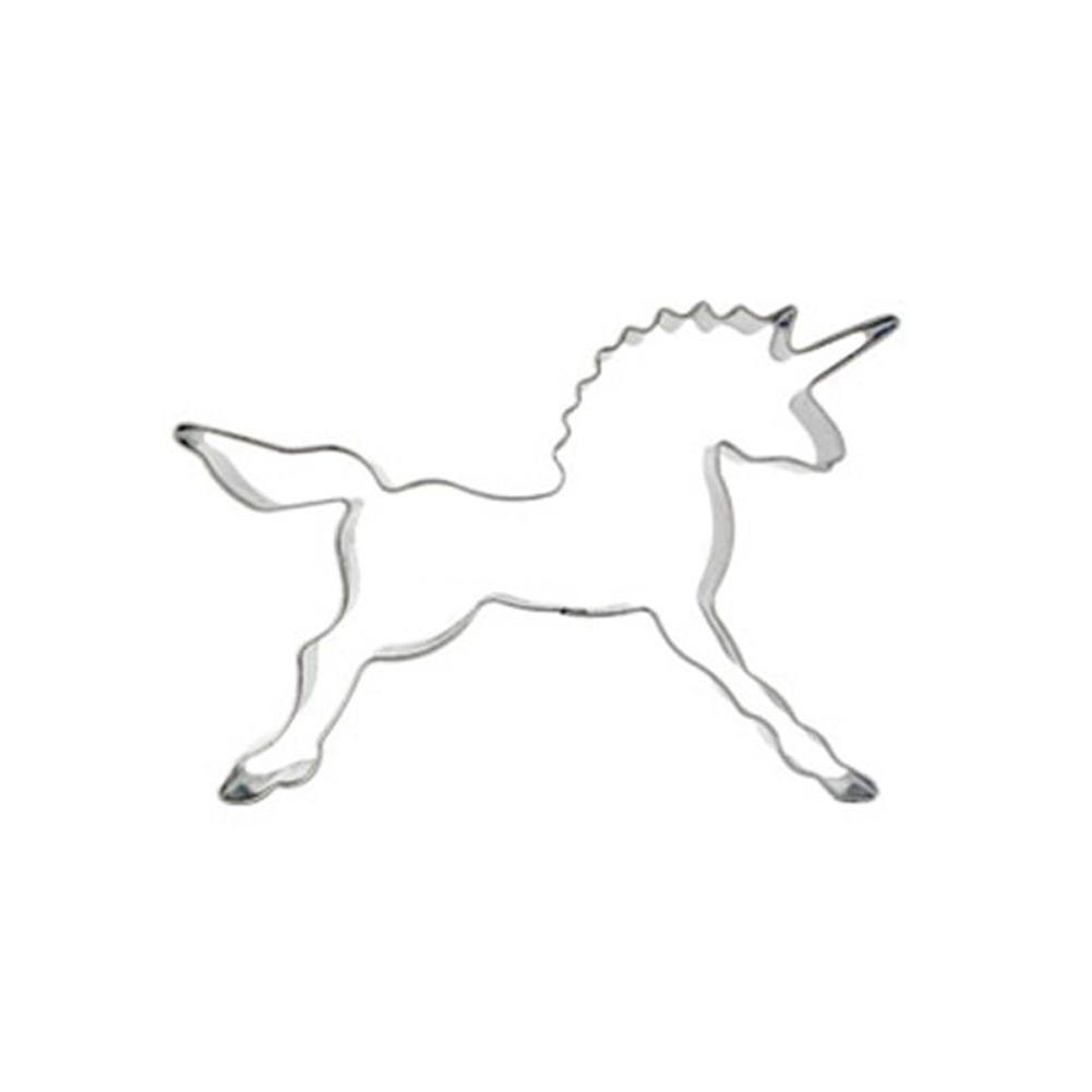 Pastry Baking Mould Cartoon Unicorn Horse Cake Mold Cookies Cutter Biscuit Decorating for Home Kitchen Bakeware Tool