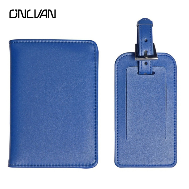 ONLVAN Passport Holder 12 Color PU Holders Travel Set Luggage Tag and Suitcase Tags ID Tags Accessories Accept OEM Travel