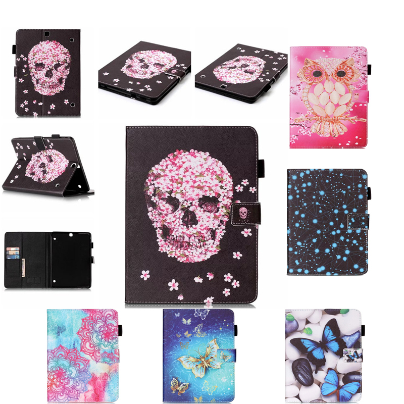 For Samsung Galaxy Tab S2 9.7 T810 T815 Case Painting Style Pu Leather Stand Case Cover For Samsung Tab S2 9.7 inch Y5555D luxury flip stand case for samsung galaxy tab 3 10 1 p5200 p5210 p5220 tablet 10 1 inch pu leather protective cover for tab3