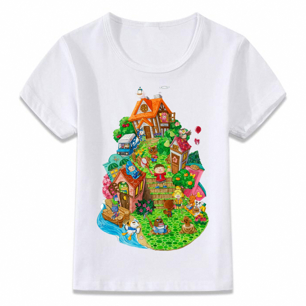 Kids Clothes T Shirt Animal Crossing Gaming T-shirt For Boys And Girls Toddler Shirts Tee Oal123