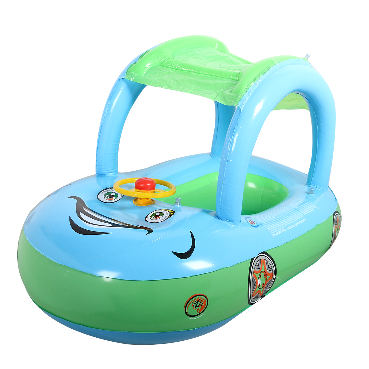 Cute Baby Float Seat Boat with Inflatable Ring Cartoon Car Swim Boat ...