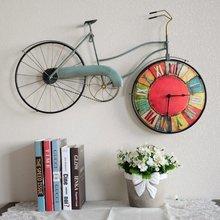 American Retro спальня настенные часы велосипед личность декоративные часы на настенная украшения дома Аксессуары